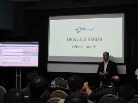 Powersoft Sales Director Luca Giorgi at the Singapore launch.
